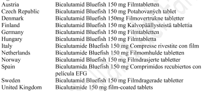 Bicalutamide Bluefish 150 mg, compresse rivestite con film.