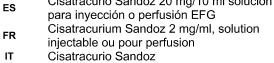 CISATRACURIO SANDOZ